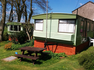 Holiday caravan near the Lake District